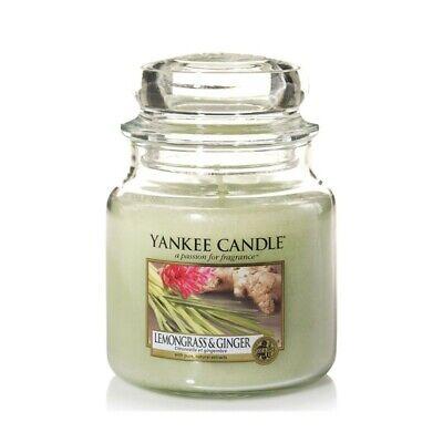 YANKEE CANDLE Giara Media Medium Jar Candela Profumata Aroma Lemongrass & Ginger