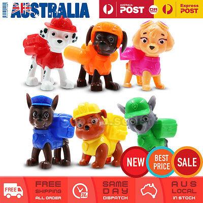 6x Paw Patrol Figures Toy Cake Topper Display Figurine Decor Kid Gift Set AU NEW