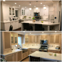 Lacquer Sprayed Kitchen Cabinets