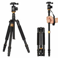 Tripod/Monopod + Ball Head Pro Portable Aluminium Alloy