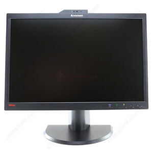 "Lenovo 22"" Widescreen LED Monitor with Built-in Webcam and Mic"