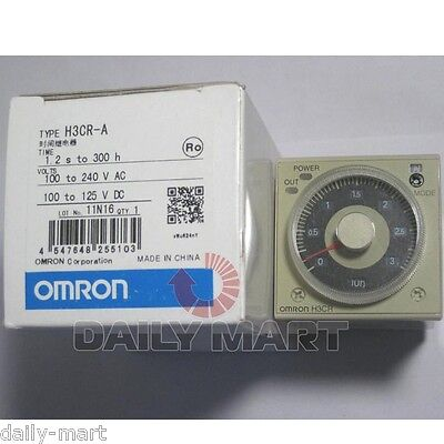 Omron Timer H3cr-a H3cra 100-240vac100-125vdc New In Box Nib Free Ship