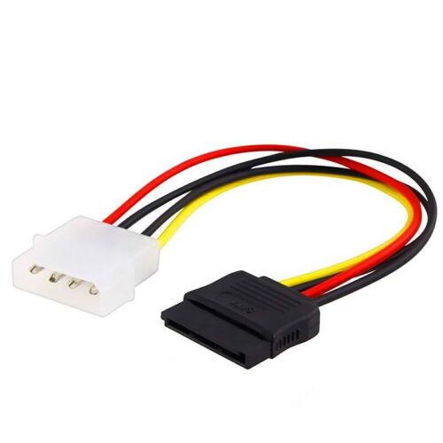 SATA 15-pin Male to Molex IDE 4-pin Male Power Cable Cord Adapter Brand New