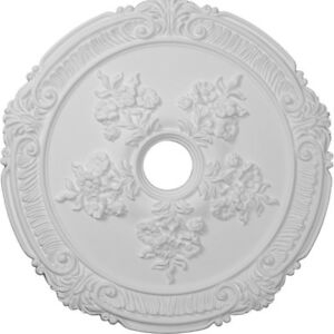 "Ekena Millwork CM26AT 26"" OD Attica with Rose Ceiling Medallion"