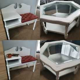Coffee table and telephone table seat