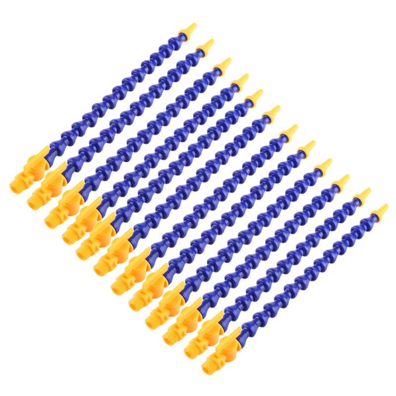 12pcs Lathe CNC Machine Flexible Plastic Water Oil Coolant Pipe Hose With Tap US
