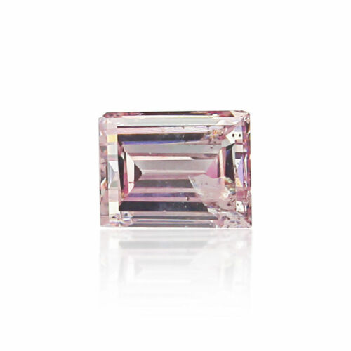 Natural Pink Diamond 0 .10 Ct Fancy GIA Certified Loose Color Baguette Cut