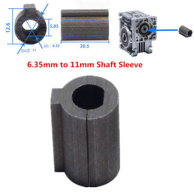 1pc Shaft Sleeve 6.35mm Shaft Motor To 11mm Bore Adapter Worm Gear Speed Reducer