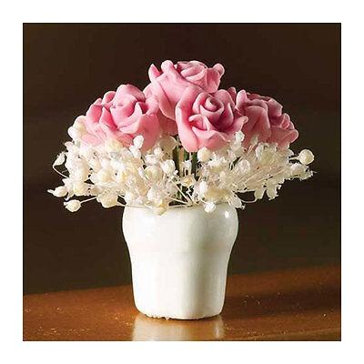 Dolls House 4363 Pink Rosen Arrangement Vase 1:12 für Puppenhaus NEU!   #