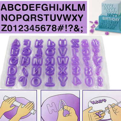 40pcs Alphabet Number Letter Fondant Cake Decoration Set Cutter Mould Set