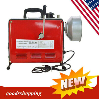66 Ft. Electric Power Machine Auger Cable Drain Clog Cleaner Snake Pipe Sewer