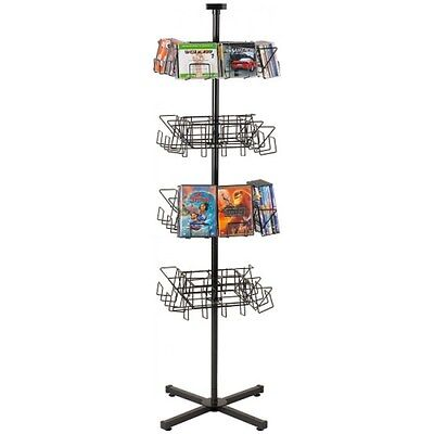 Floor Cddvd Spinner Display Rack - 32 Pocket 224 Cds Or 160 Dvds Black