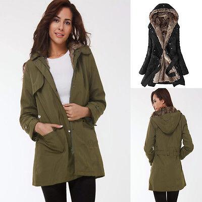 2017 Womens Thicken Warm Winter Coat Hood Parka Overcoat Long Jacket Outwear
