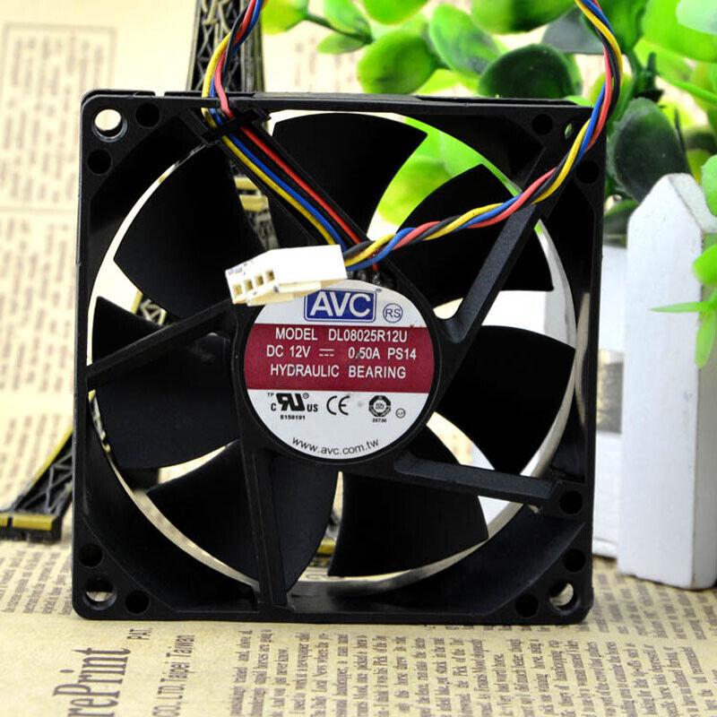 AVC-DL08025R12U-CPU-Cooling-Fan-PWM-12V-0-50A-4Pin-Cooler-Chassis-80x80x25mm thumbnail 3