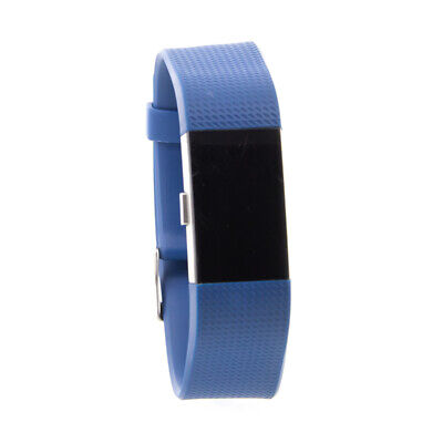 Fitbit Charge 2 Wireless Fitness Tracker Large Blue & Black Wristband FB407