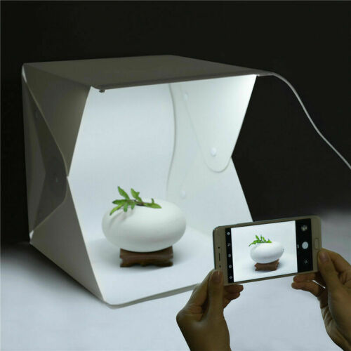 Portable Light Room Photo Photography Lighting Tent Kit Cube Box 4 Pcs Backdrops