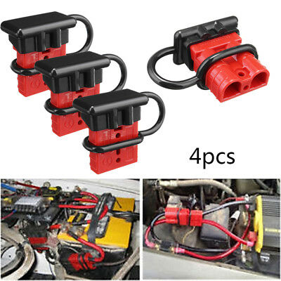 4x50A Battery Quick Connect/Disconnect Wire Harness Plug Winch Trailer Connector