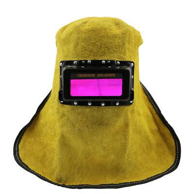 Leather Solar Auto Darkening Filter Lens Welder Welding Hood Mask Helmet 219
