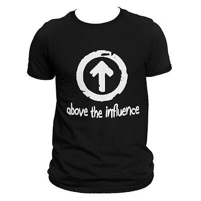 Above the influence Medium Black t-shirt Design