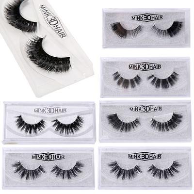 Mink Design (Soft Design 3D 100% Real Mink False Eyelashes Cross Messy Eye Lashes)