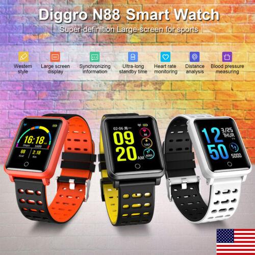 Diggro Smart Watch IPS BT IP68 Call Heart Rate Blood Pressur