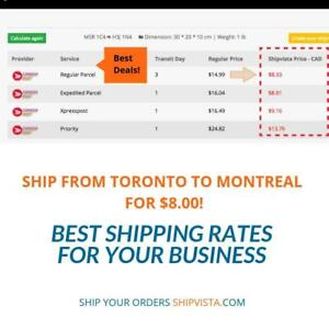 Shipping from Toronto to Montreal? | Get an Instant Rate on ShipVista.com