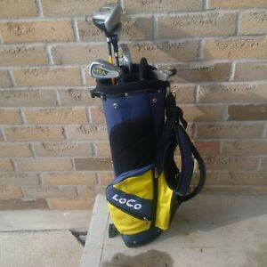 Junior Righthand Golf Clubs with Bag