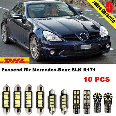 SMD LED Innenraumbeleuchtung komplett Set Passt für Mercedes SLK R171 Benz Weiss