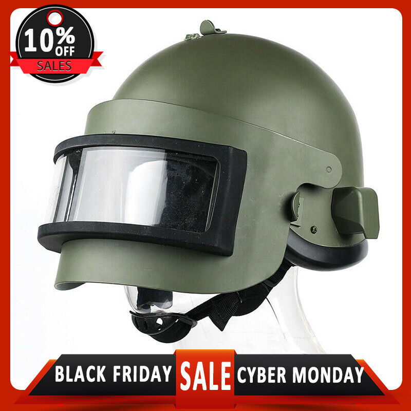 K6-3 Steel Vizor Olive Helmet Replica with For Special Units Russian Army