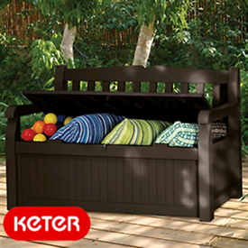 Keter plastic garden storage bench