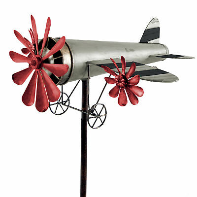 Wind Chime Airplane metall-windrad Raisin Bombers SILVER-RED Garden Ornament
