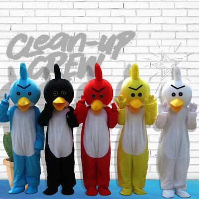 Blue Bird Mascot Costume Cosplay Party Dress Outfit Advertising Halloween - Blue Bird Costume