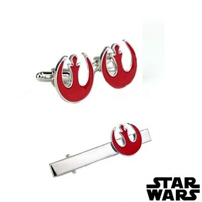 Rebel Alliance - Star Wars - Tie Clip And Cufflinks Set - Silver - Gift - Fans