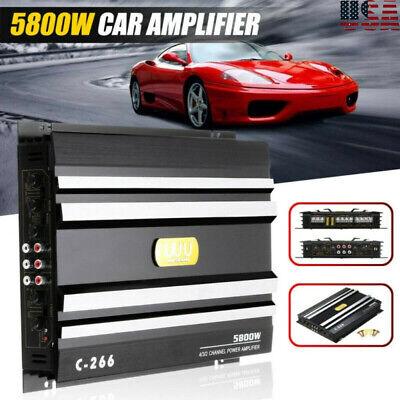 5800W 4 Channel Car Amplifier Stereo Audio Super HiFi Bass Power Amp 12V DC