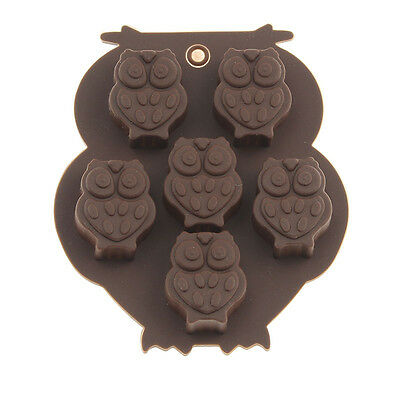 Owl Bird Scary Angry Silicone Soap mold Candy Chocolate Fondant mould Ice Cube