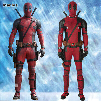 Deadpool 2 Costume Cosplay Halloween Leather Superhero Outfits Men Suits Props - Deadpool Outfit