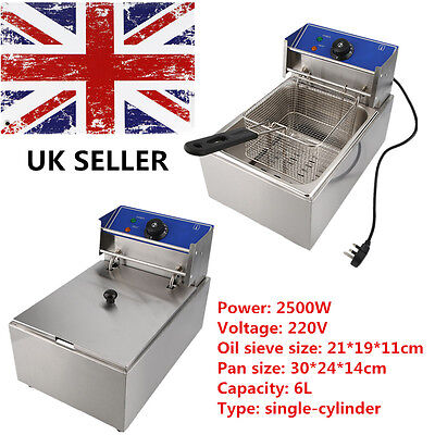 6l Commercial Stainless Steel Electric Deep Fryer Lid