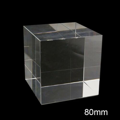 Optical Cube Prism Hexahedron Transparent Crystal Glass Photography Decoration