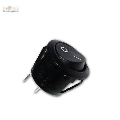 5x Mini-Wippenschalter 1-polig EIN/AUS 250V/6A, Wippschalter klein rund Schalter