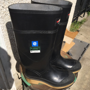 TWO NEW BAFFIN INDUSTRIAL STEEL TOED ACID AND OIL