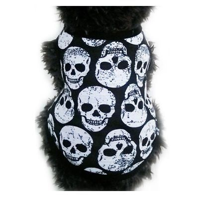 Halloween Pet Comfortable and Breathable Vest Dog Cool Costume Skulls Patterns - Cool And Easy Halloween Costumes