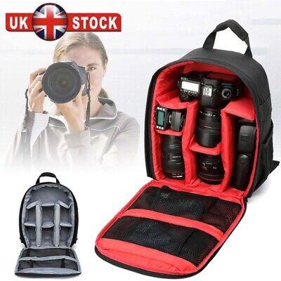 Travel Waterproof DSLR SLR Camera Bag Backpack Rucksack For Canon Nikon Sony New