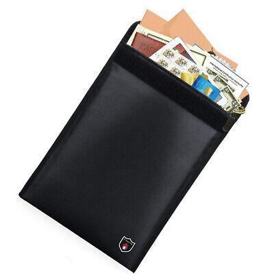 Fireproof Document Bag Fire proof Money Bag Water Resistant Cash Pouch Box