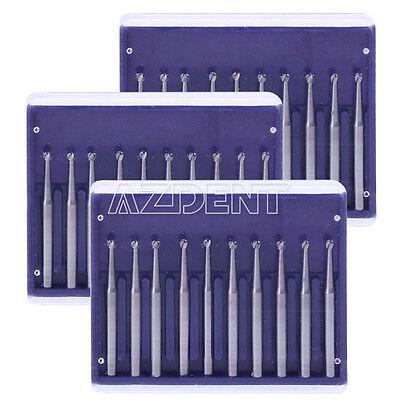 30 Pcs Dental Surgical Burs Round Tungsten Carbide Steel Drills Fg 3 Handpiece