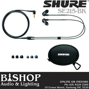 Shure In Ear Sound Isolating Pro Ear Phones - SE215-BK (black)