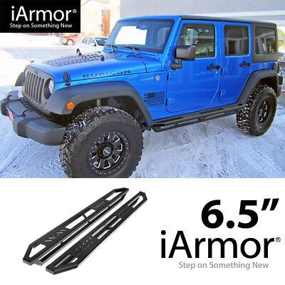 Off Roader Black Aluminum Rock Sliders For 2007-2017 Jeep Wrangler JK 4 Door (Rock Sliders Jk)