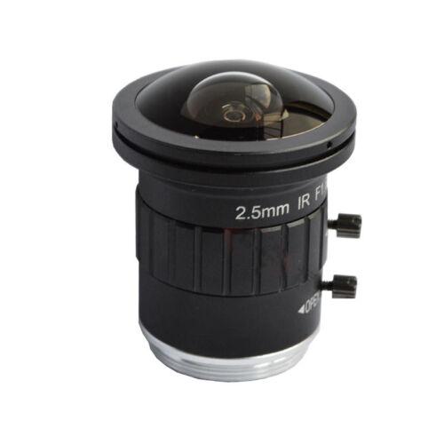 "2.5mm 4K HD 8MP 2/3"" F1.6 Fisheye Wide Angle View  CS Mount for CCTV Camera Lens"