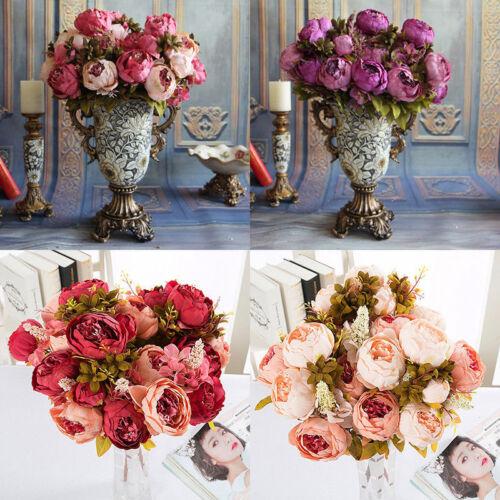 Seide Pfingstrose Künstliche Blumen Fine Pfingstrose Hochzeit Bouquet Dekor