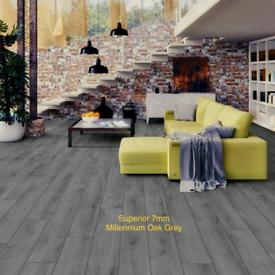 Oak Grey Laminate Flooring 7mm Wood not carpet new cheap