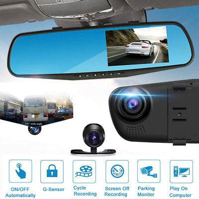 Hd 1080P 4 3 Video Recorder Dash Cam Anti Glare Rear View Mirror Car Camera Dvr
